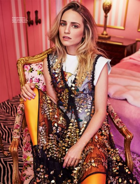 Dianna Agron Looks Lovely in Louis Vuitton for Harper's Bazaar Malaysia