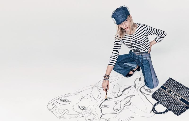 Sasha Pivovarova stars in Dior's spring-summer 2018 campaign