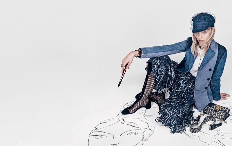 Dior features denim in spring 2018 campaign