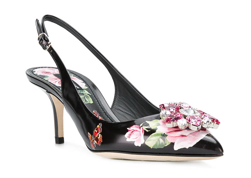 Dolce & Gabbana Belucci Rose Slingback Pumps $804