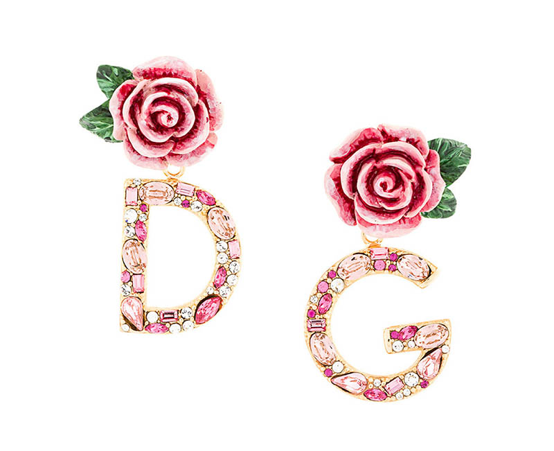 Dolce & Gabbana DG Rose Drop Earrings $724