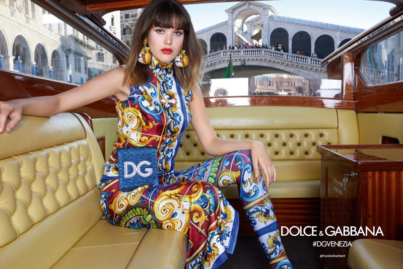 Frankie Herbert fronts Dolce & Gabbana's spring-summer 2018 campaign