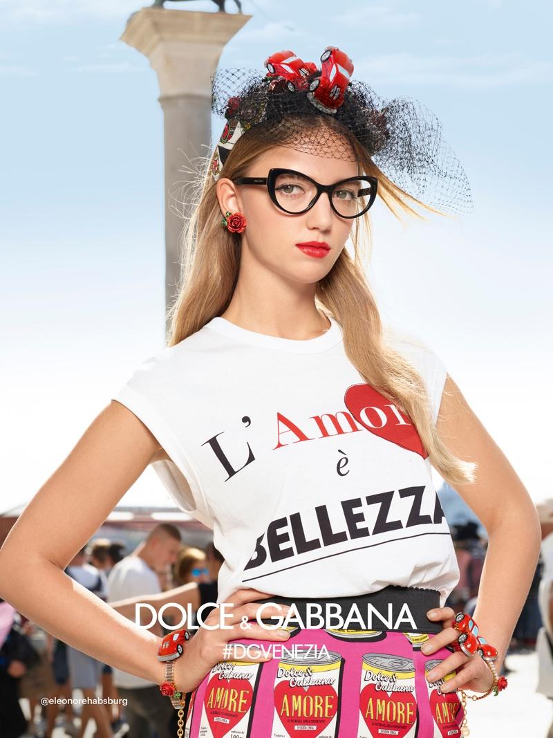 d79f10374aa ... Eleonore Von Habsburg stars in Dolce   Gabbana s spring-summer 2018  campaign