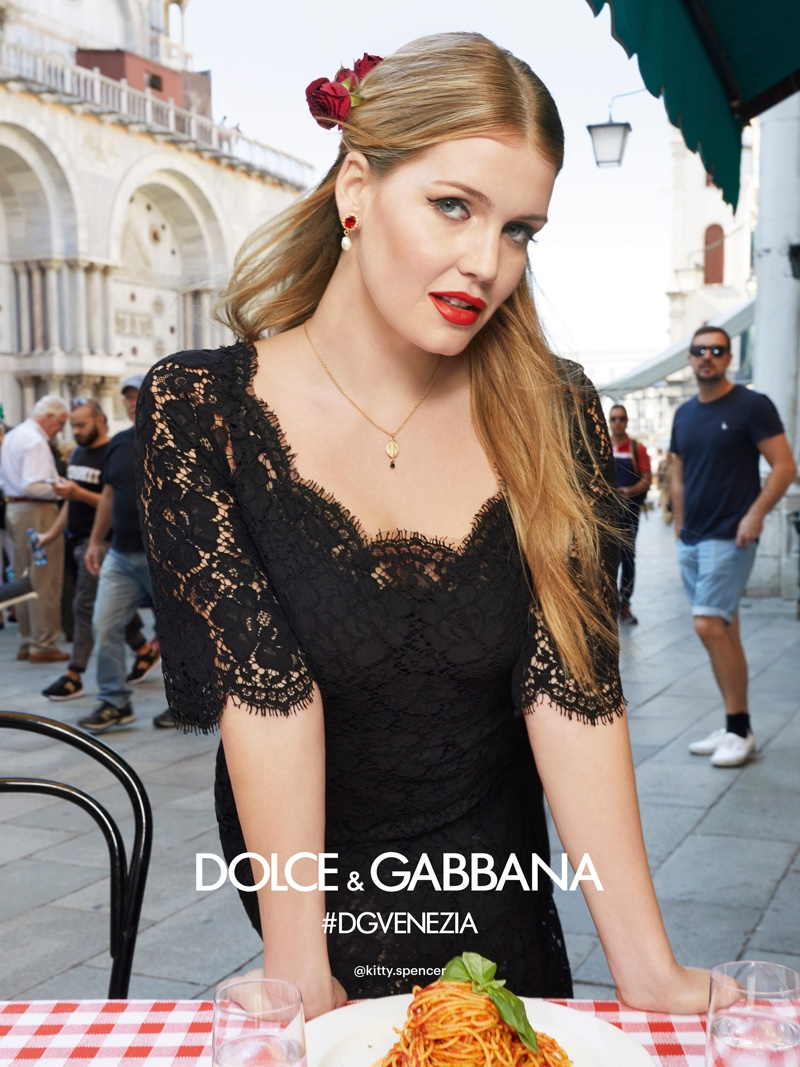 Kitty Spencer stars in Dolce & Gabbana's spring-summer 2018 campaign
