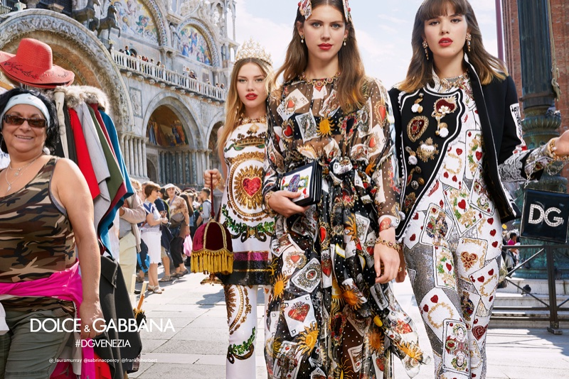 An image from Dolce & Gabbana's spring 2018 advertising campaign