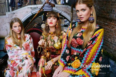 Bea Fresson, Frankie Herbert and Kitty Spencer star in Dolce & Gabbana's spring-summer 2018 campaign
