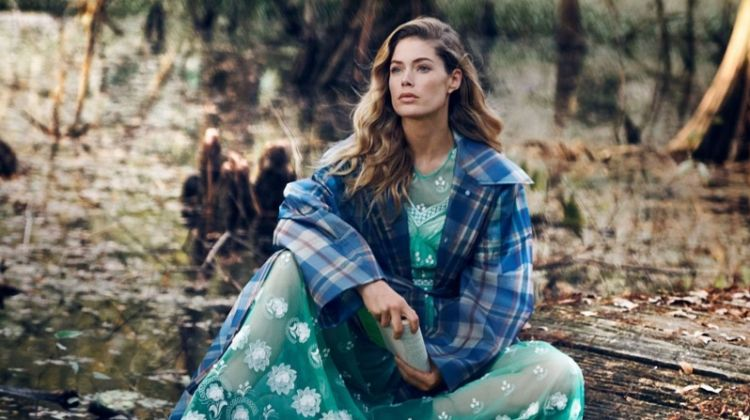 Doutzen Kroes Wears the Season's Prettiest Coats for Vogue
