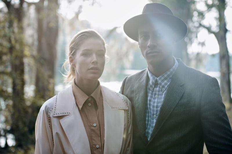 Doutzen Kroes Wears the Season's Prettiest Coats for Vogue