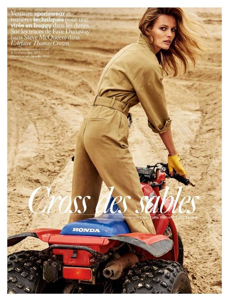Edita Vilkeviciute Takes On Race Track Style for Vogue Paris