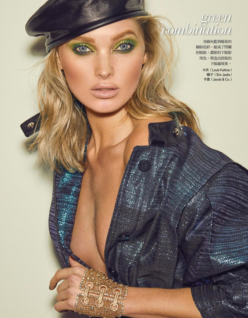 Elsa Hosk Poses in Sultry & Sleek Fashions for Vogue Taiwan