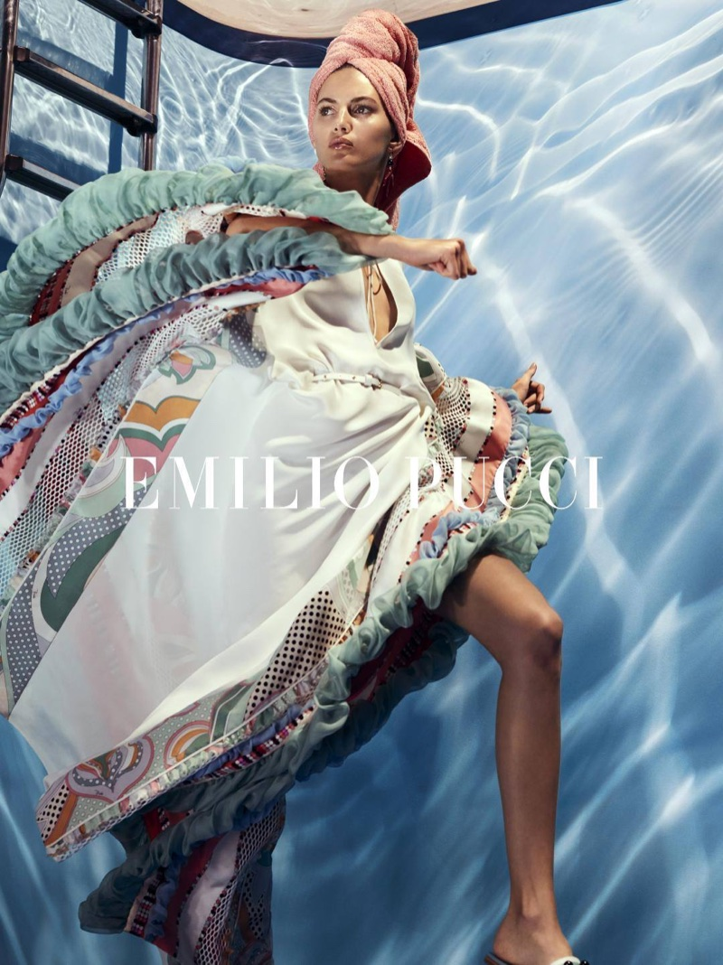 Valery Kaufman stars in Emilio Pucci's spring-summer 2018 campaign