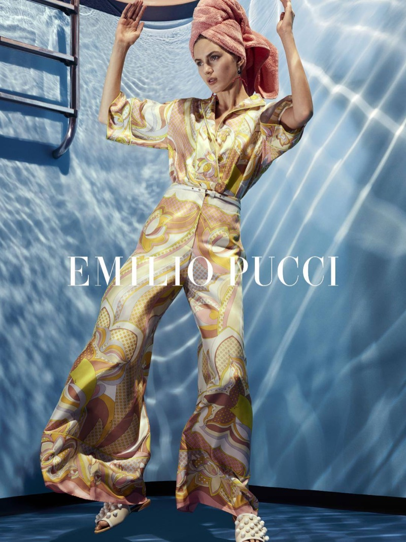 Emilio Pucci spotlights printed jumpsuit in spring-summer 2018 campaign