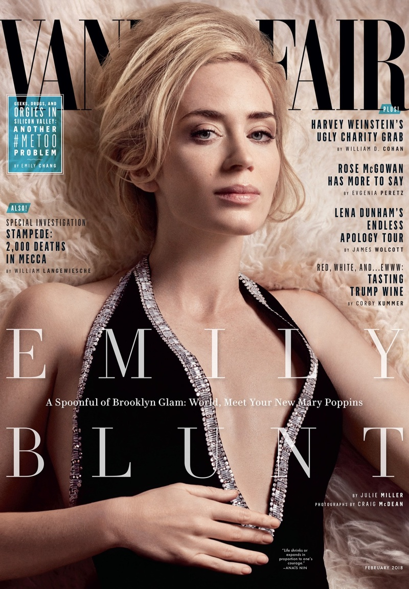 Emily Blunt on Vanity Fair February 2018 Cover