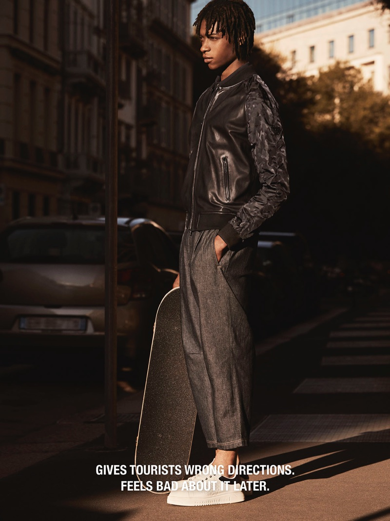 Emporio Armani features street style in spring-summer 2018 campaign