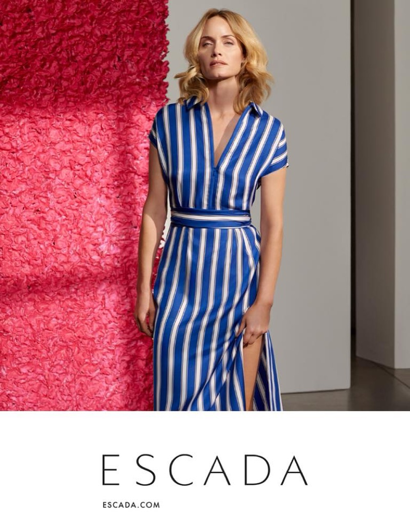 Amber Valletta stars in Escada's spring-summer 2018 campaign