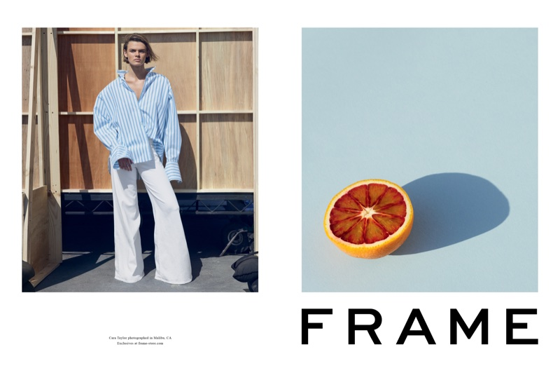 An image from FRAME's spring 2018 advertising campaign