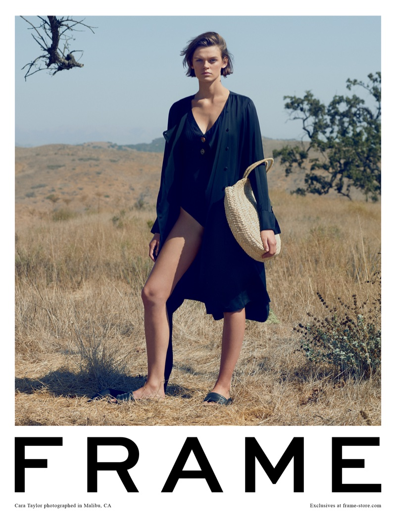 Cara Taylor stars in FRAME's spring-summer 2018 campaign