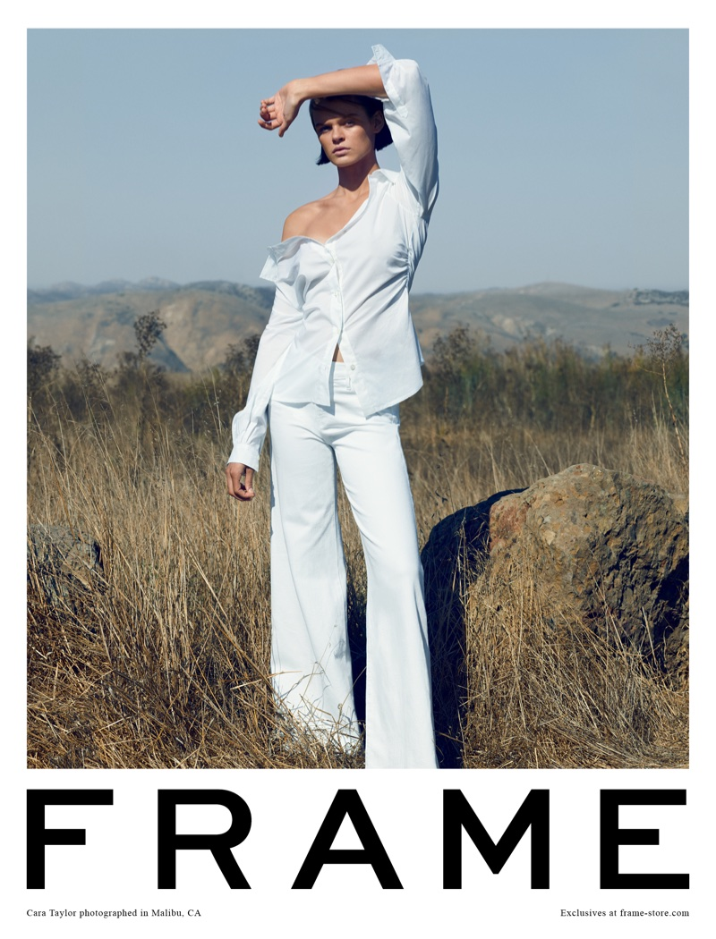 FRAME taps Cara Taylor for spring-summer 2018 campaign