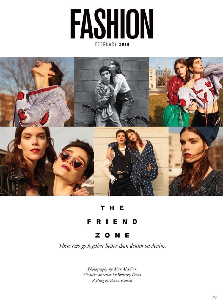 Meghan Collison & Janice Alida Rock 90's Style for FASHION Magazine
