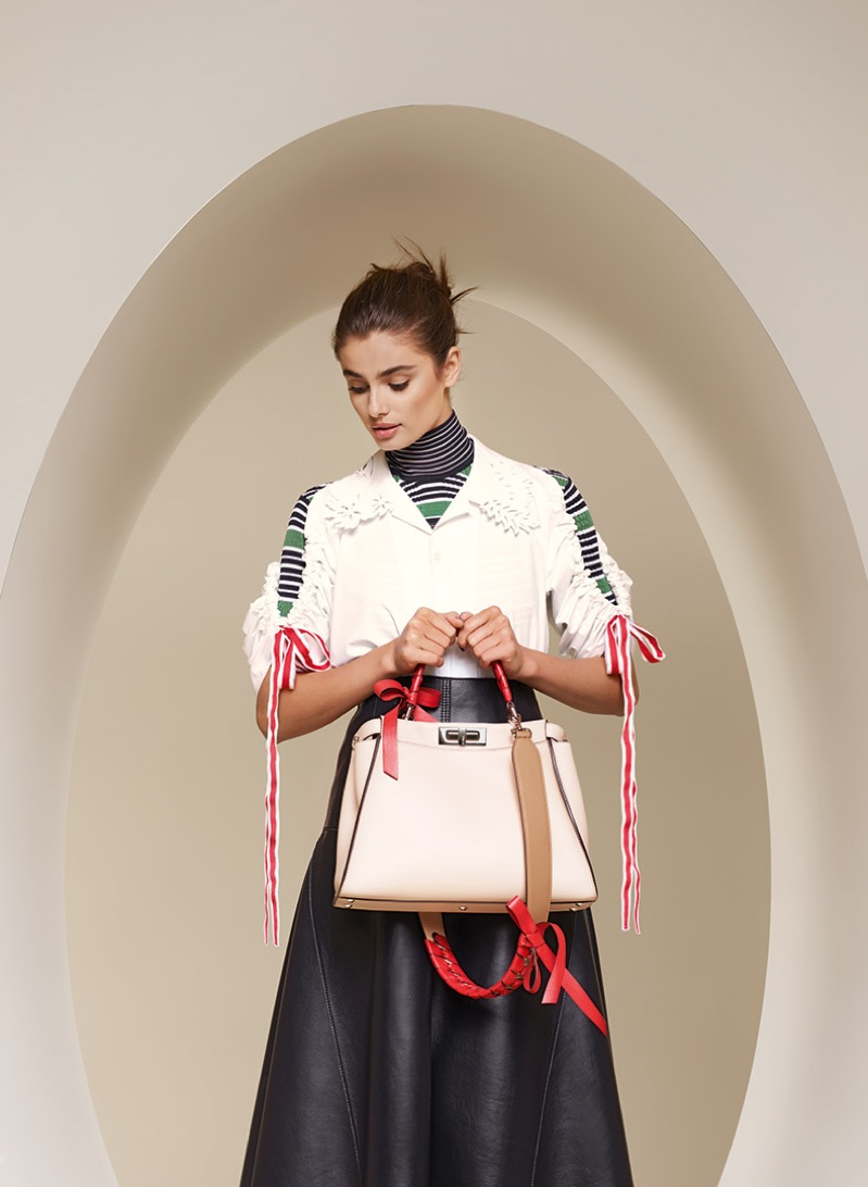 Taylor Hill appears in Fendi's spring-summer 2018 campaign