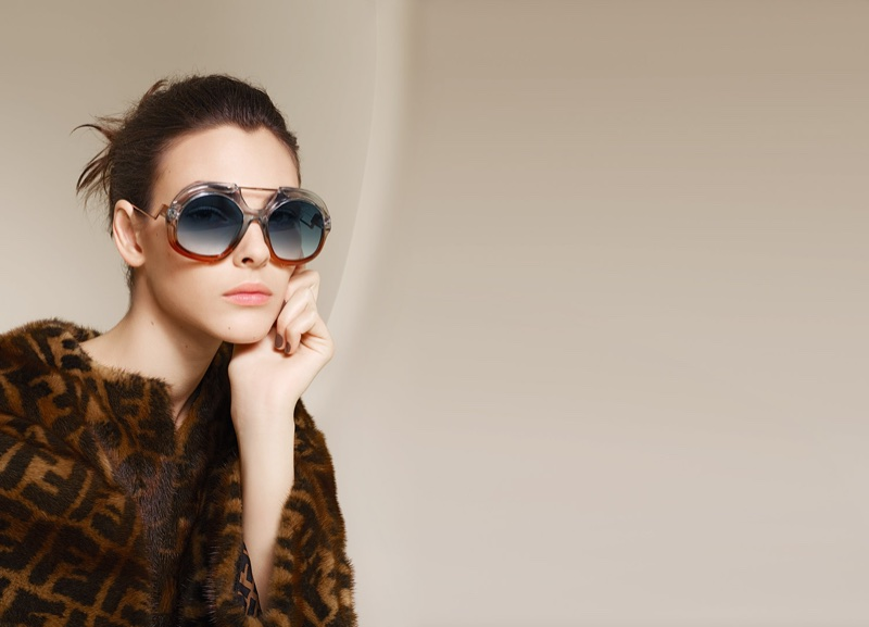 An image from Fendi's spring 2018 advertising campaign featuring eyewear