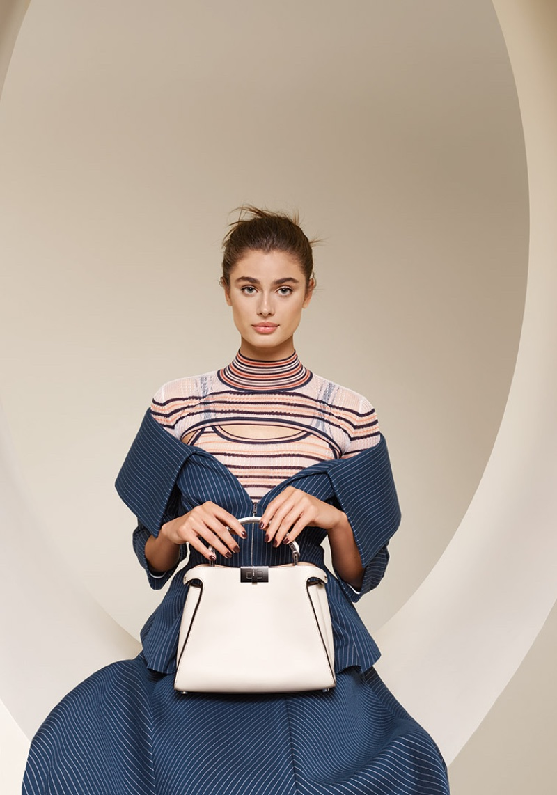 Taylor Hill stars in Fendi's spring-summer 2018 campaign