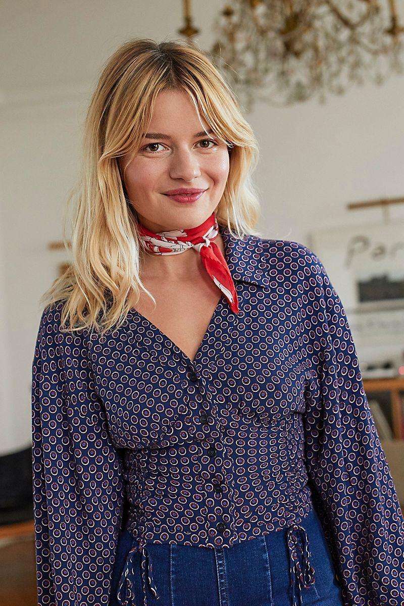Free People What You Need Printed Blouse and That's A Wrap Printed Neck Tie