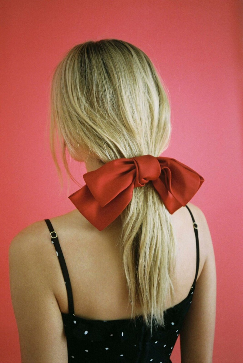 Pin & Tube Silk Bow Barrette