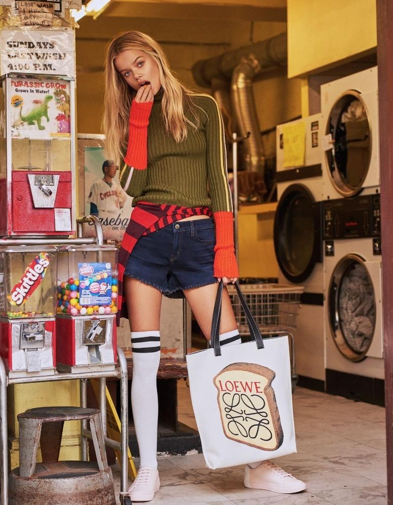 Frida Aasen Takes On Casual Street Styles for ELLE China
