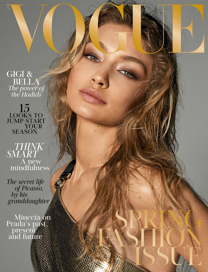 Gigi Hadid on Vogue UK March 2018 Cover
