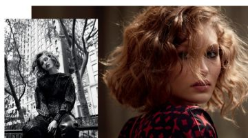Grace Elizabeth Models Sleek Street Style for Vogue China
