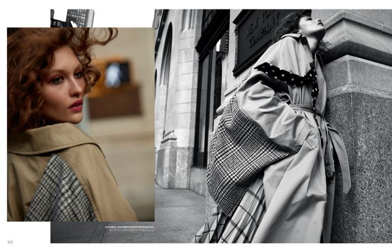Grace Elizabeth Models Sleek Street Style for Vogue China