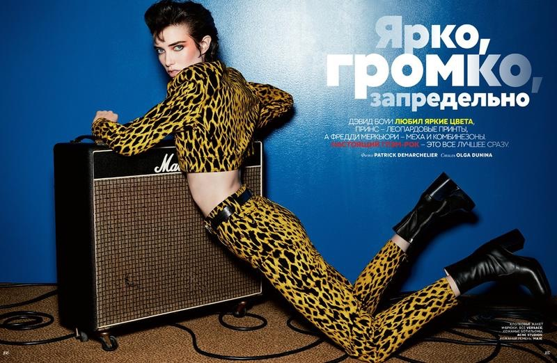 Grace Hartzel Channels Her Inner Rock Star for Vogue Russia