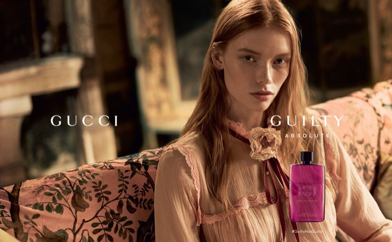 Julia Hafstrom fronts Gucci 'Guilty Absolute' fragrance campaign