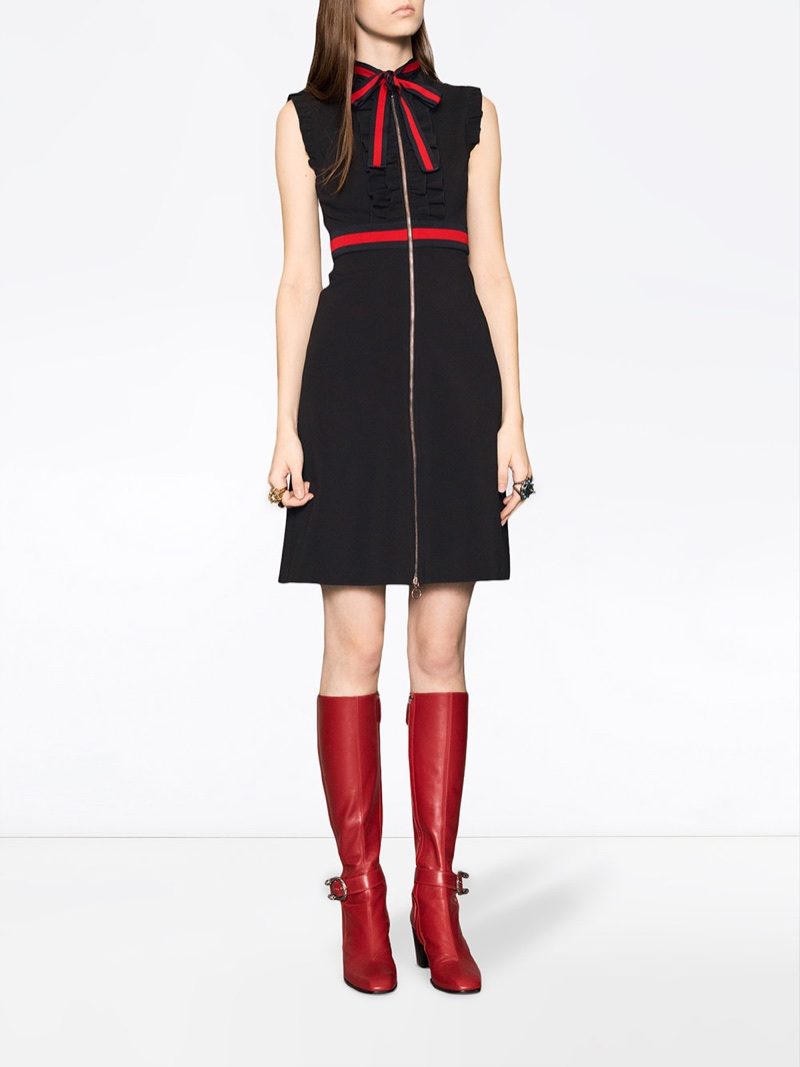 Gucci Jersey Dress with Web Trim $1,700