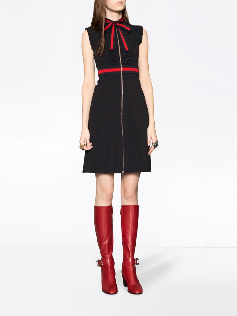 Gucci Jersey Dress with Web Trim $1,700