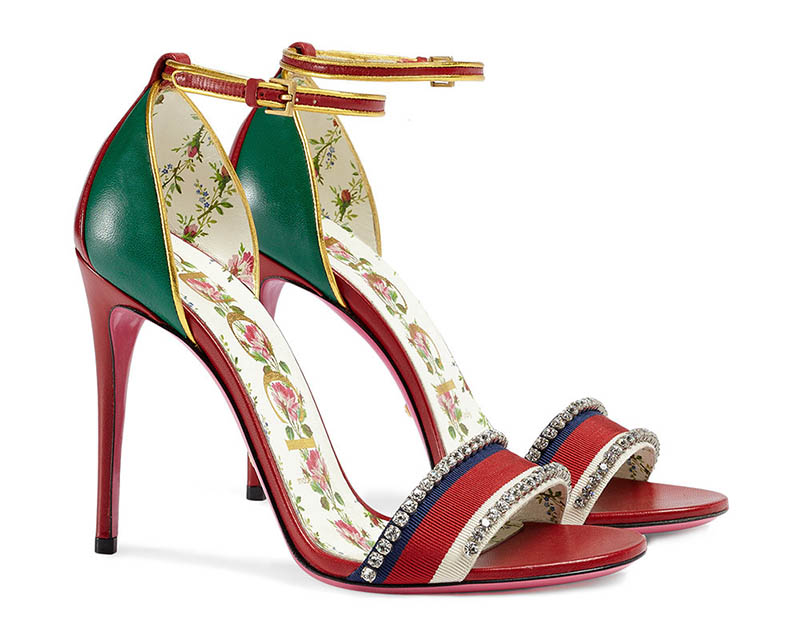 Gucci Leather Sandals with Crystals $1,250