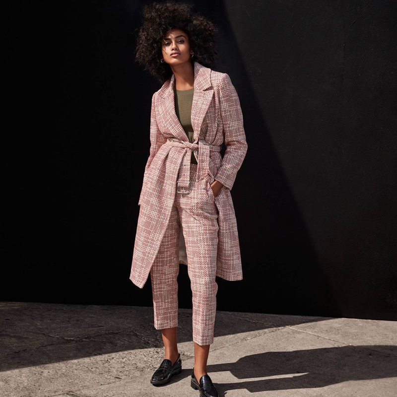 H&M Textured-Weave Coat, Jacquard-Weave Pants and Leather Loafers