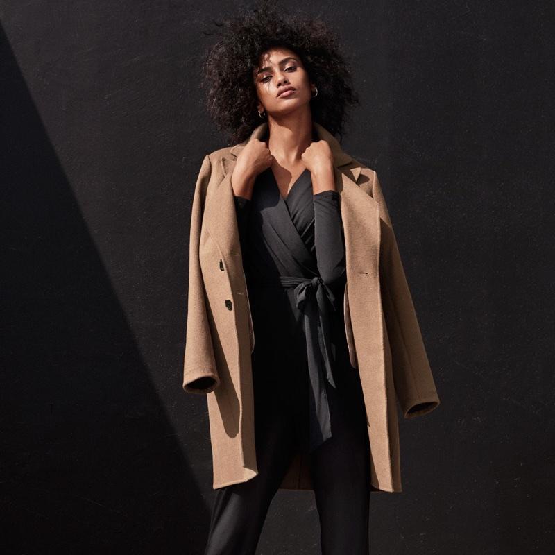 H&M Wool-Blend Coat and Jumpsuit