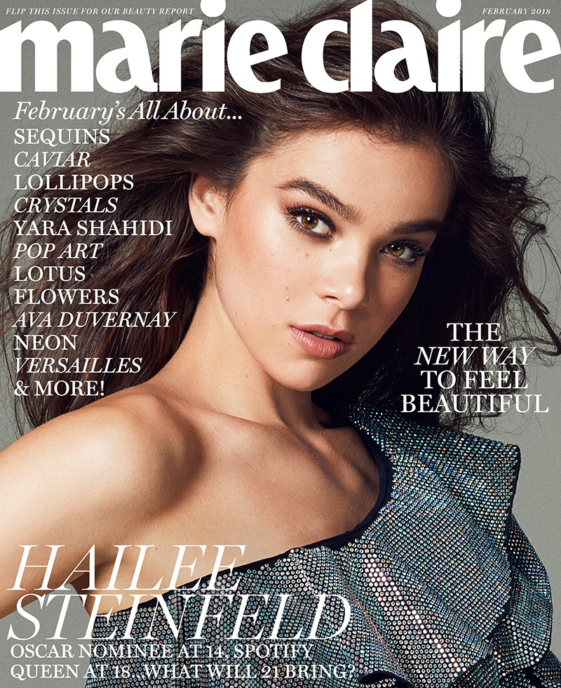 Hailee Steinfeld on Marie Claire US February 2018 Cover