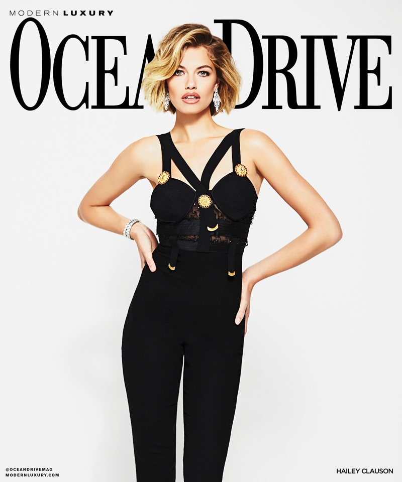 Hailey Clauson on Ocean Drive January 2018 Cover