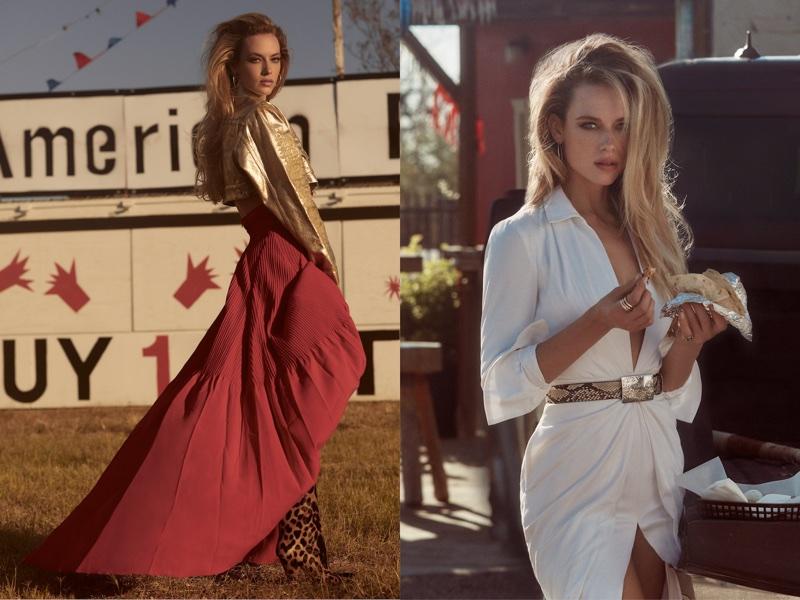 Hannah Ferguson Poses in Americana Style for V Magazine