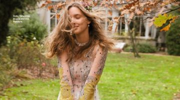 Hanne van Ooij Models Unconventional Wedding Looks for Grazia France