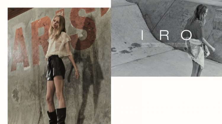Lexi Boling stars in IRO's spring-summer 2018 campaign