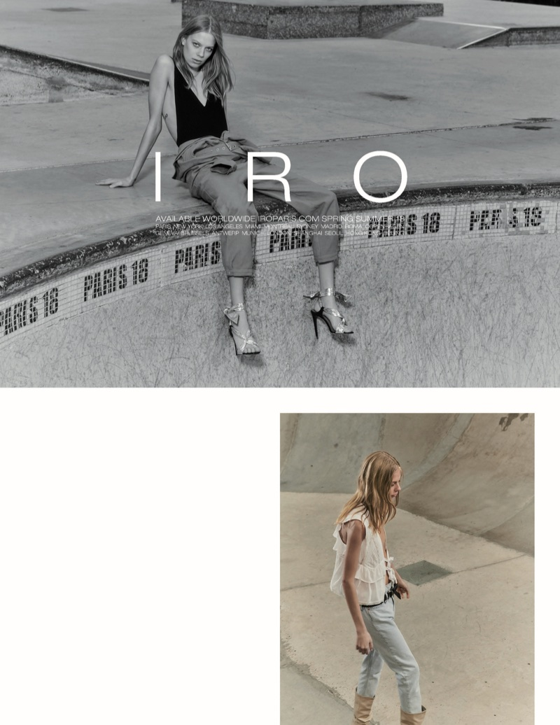 Lexi Boling fronts IRO's spring-summer 2018 campaign