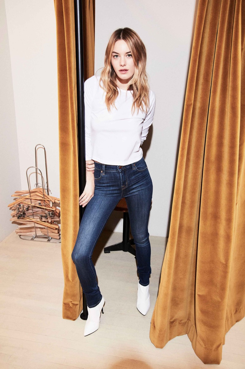 J Brand Maria High-Rise Super Skinny Jean in Ultra Lush Fleeting