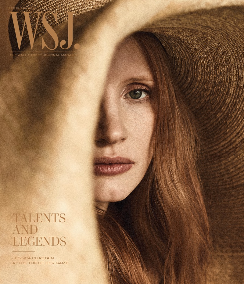 Jessica Chastain on WSJ. Magazine February 2018 Cover