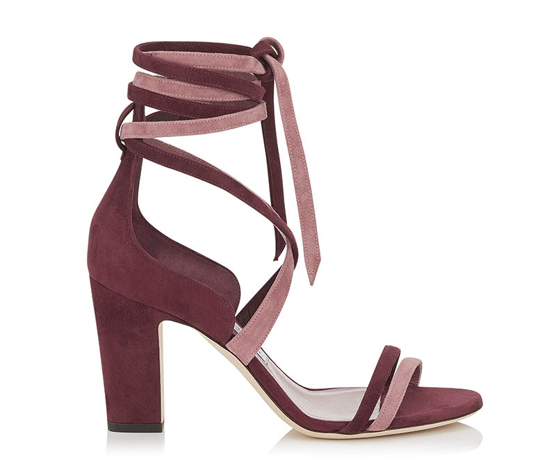 Jimmy Choo 'Flynn 85' Suede Mix Sandals $398 (previously $795)