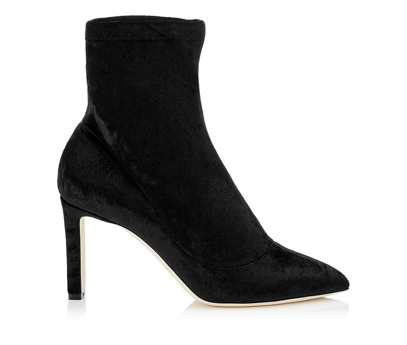 Jimmy Choo Louella 85 Crushed Stretch Velvet Boots $448 (previously $895)