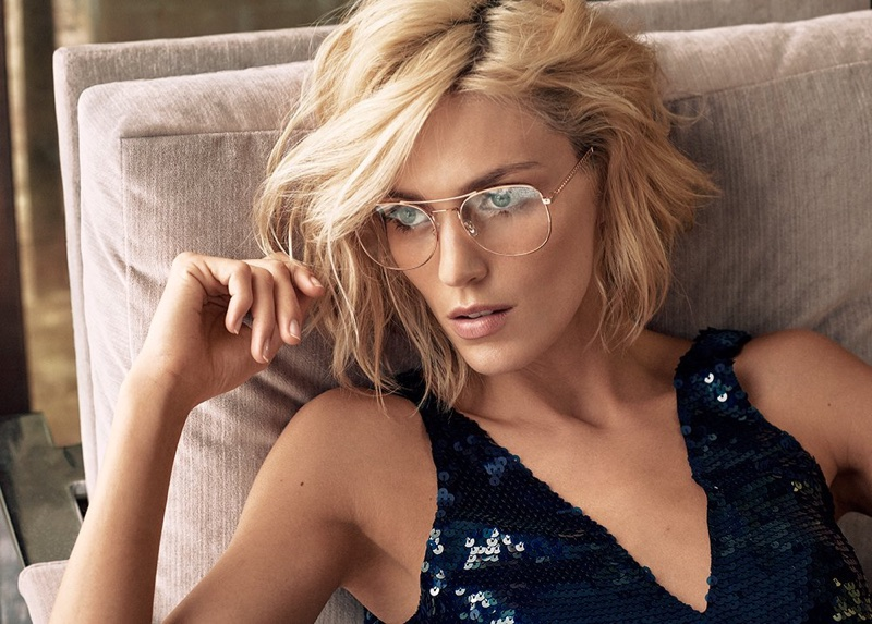Jimmy Choo taps Anja Rubik for spring-summer 2018 eyewear campaign